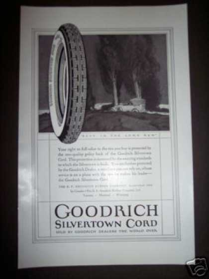 Original B. F. Goodrich Silvertown Car Tires (1923)