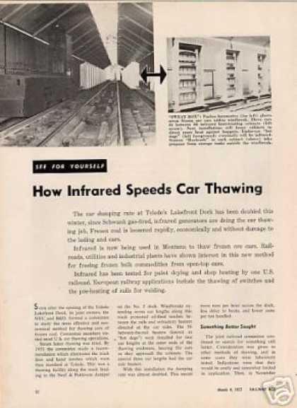 """How Infrared Speeds Car Thawing"" Nyc/b&o (1957)"