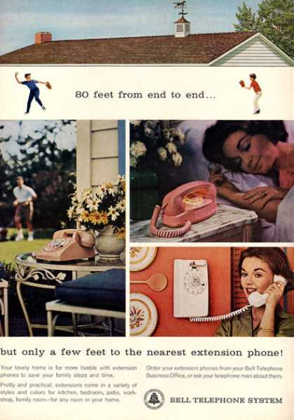 Bell Telephone System Wall Princess (1963)