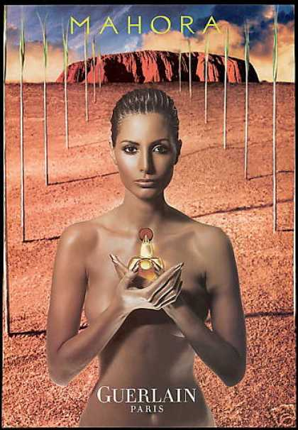 Guerlain Mahora Perfume Nude Woman Photo (2001)
