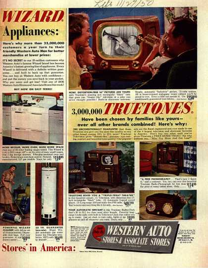 Wizard's Various – 3,000,000 TRUETONES have been chosen by families like yours-over all other brands combined (1950)