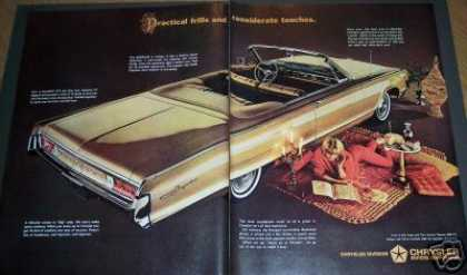 Chrysler Gold Convertible Car 2 Page (1964)