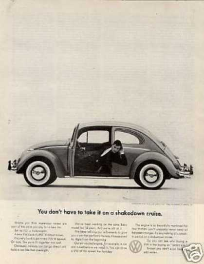 "Volkswagen Car Ad ""You Don't Have To Take It... (1961)"