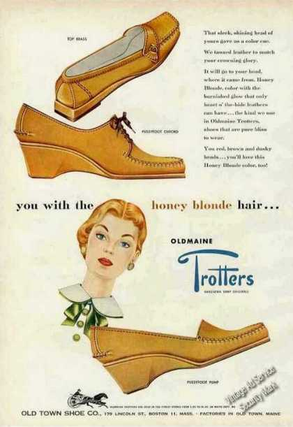 Oldmaine Trotters Old Town Shoes Boston Ma (1954)