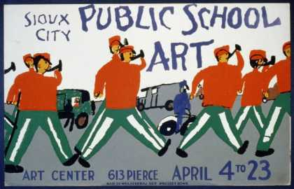 Public school art, Sioux City Art Center / made by WPA Federal Art Project, Iowa. (1936)