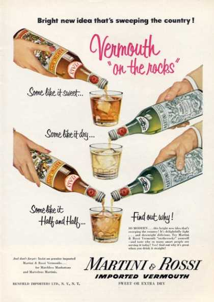 Martini & Rossi Vermouth Bottle (1952)