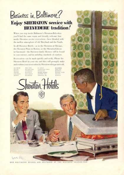 Sheraton Hotels Business In Baltimore? (1952)