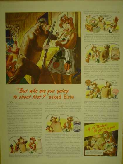 Bordens Milk. Elsie the cow (1944)