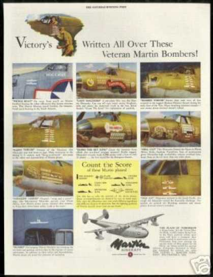 Martin Aircraft WWII Bombers Plane Vintage (1944)