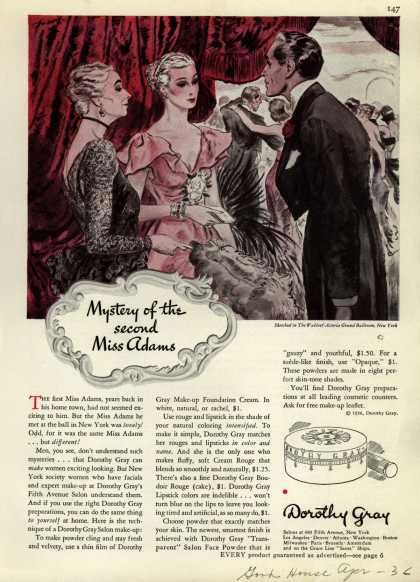 Dorothy Gray – Mystery of the second Miss Adams (1936)