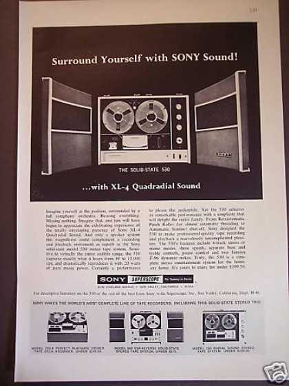 Sony 530 Xl-4 Quadradial Sound Tape Recorder (1967)