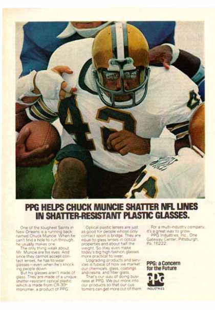 PPG Industries – New Orleans Saints Chuck Muncie (1977)