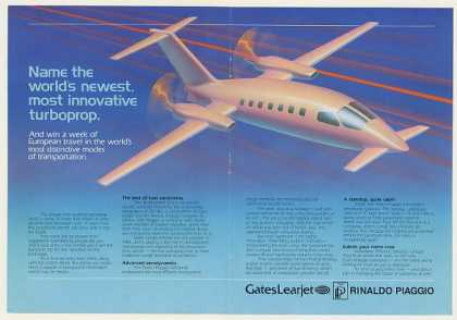 Gates Learjet Name Turboprop Aircraft 4-Page (1984)