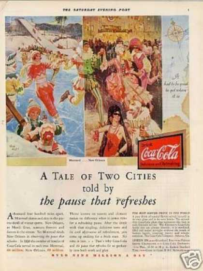 "Coca-cola Color Ad ""A Tale of Two Cities... (1931)"