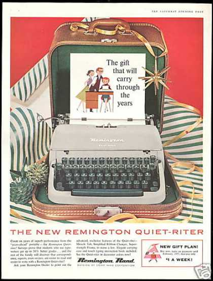 Remington Rand Quiet-Riter Typewriter (1956)
