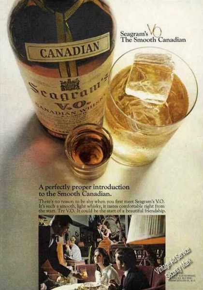 "Seagram's Vo ""The Smooth Canadian"" (1968)"