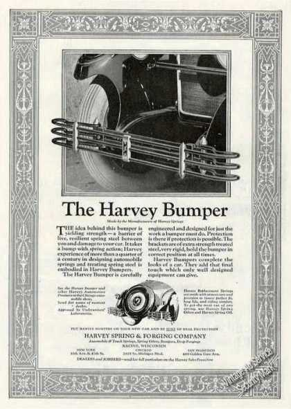 The Harvey Bumper Racine Wi Antique Car Part (1927)