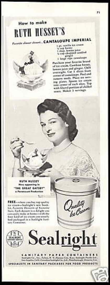 Ruth Hussey Sealright Paper Container (1949)