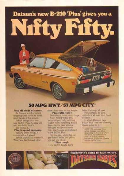 Datsun B-210 Plus Car – Nifty Fifty (1976)