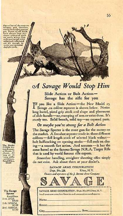 Savage's .22 Rifles (1925)