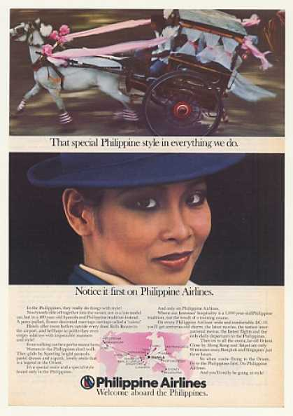 Philippine Airlines Calesa Carriage Stewardess (1977)