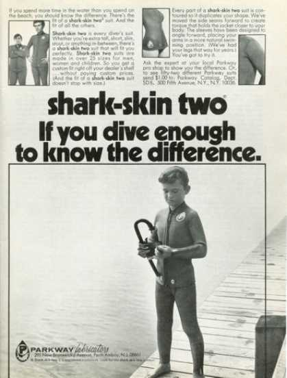 Parkway Scuba Diver Shark Skin Child Suit (1972)