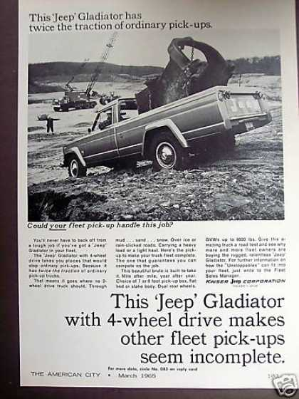 Jeep Gladiator Pickup 4wd Truck Pick-up (1965)