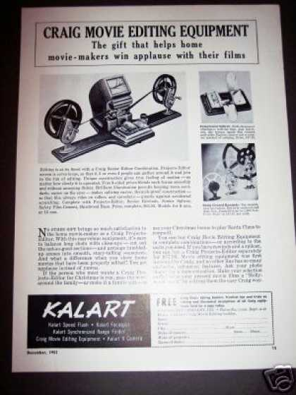 Original Craig Film Movie Editing Equipment (1951)