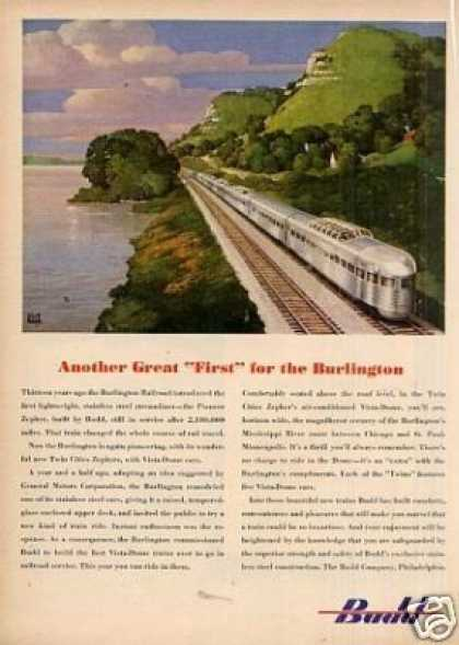 Budd Ad Burlington Obs/leslie Ragan Art (1947)