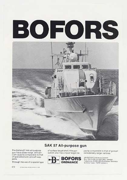 Bofors SAK 57 All-Purpose Gun Ship Photo (1980)