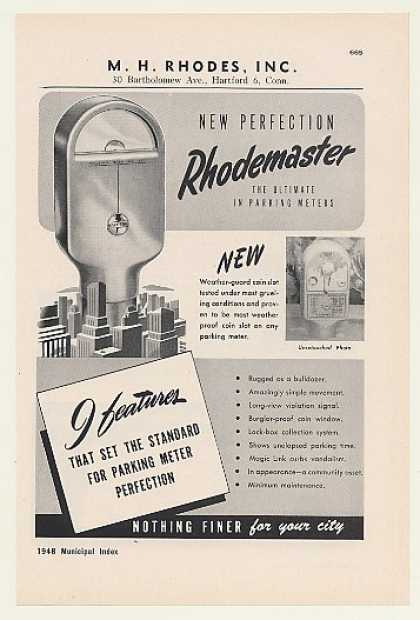 M H Rhodes Rhodemaster Parking Meter (1948)