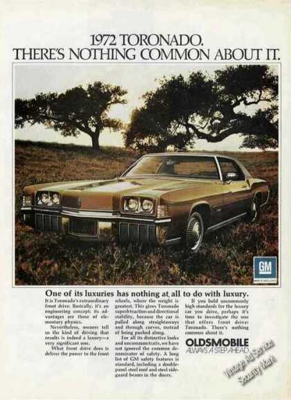Oldsmobile Toronado Nothing Common About It (1972)