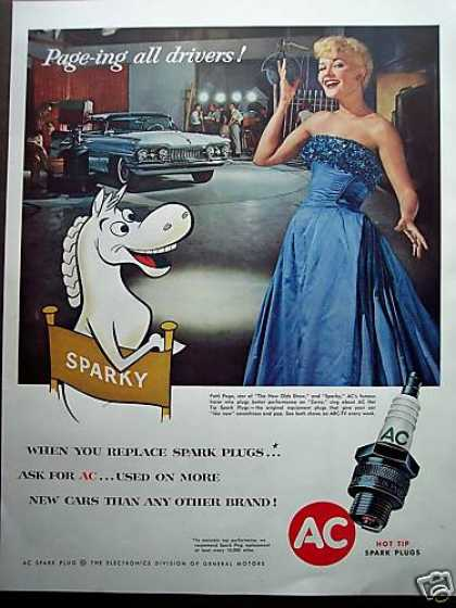 Patti Page & Sparky Photo Ac Spark Plugs (1958)