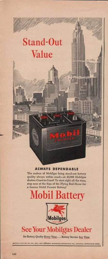 Mobil Battery Stand Out Value (1949)