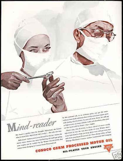 Nurse Mind Reader Doctor Surgery Conoco Oil (1941)