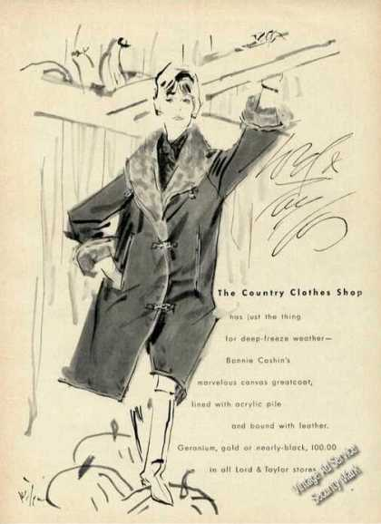 Lord & Taylor Fashion Art Canvass Greatcoat (1962)