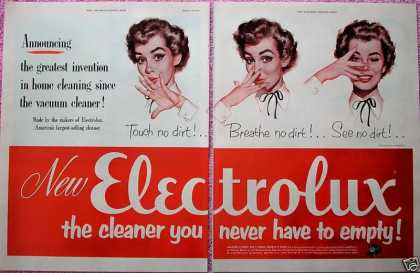 Electrolux Vacuum Cleaner Touch See Breathe No (1952)