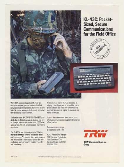 TRW KL-43C Text Encryption Terminal (1987)