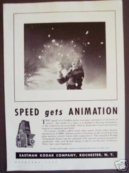 Snow Photo Graflex Speed Camera Original (1942)