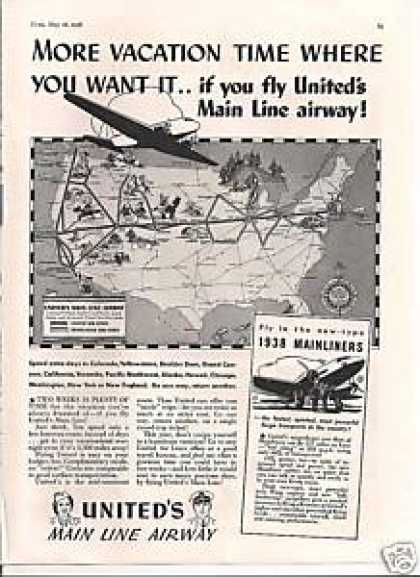 Uniteds Main Line Airway Airlines (1938)