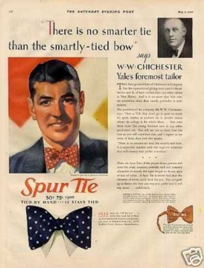 Spur Tie Color Ad Ww. Chichester (1930)