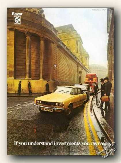 Rover British Leyland Photo Uk Print Promo Cars (1975)