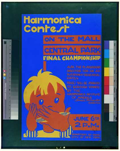 Harmonica contest on the mall, Central Park – Final championship. (1936)