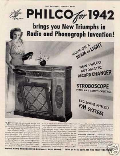 Philco Radio-phonograp (1942)