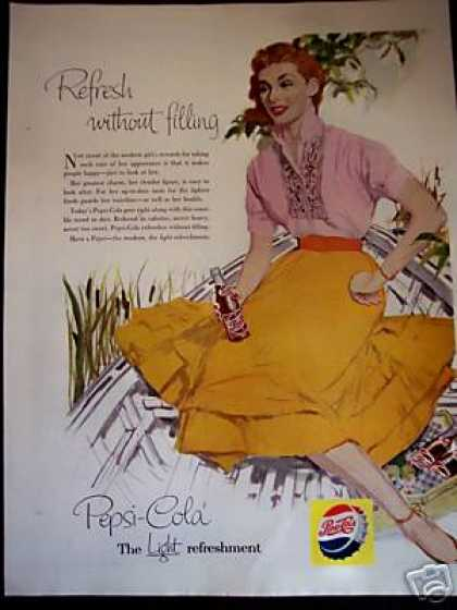 Woman In Dress – Boat Pepsi-cola Soda (1956)