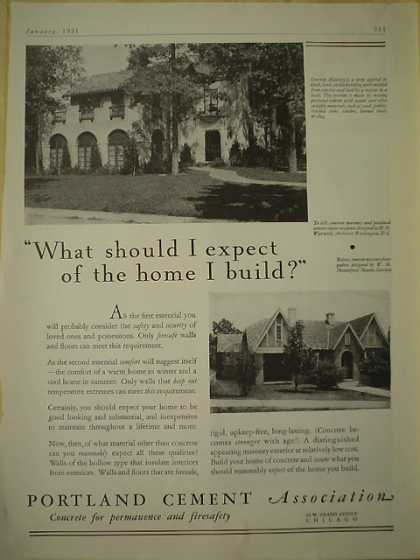 Portland Cement Co Chicago What should I expect of the home I build (1931)