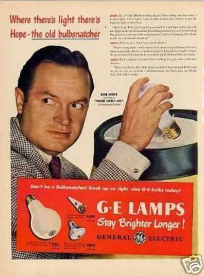 G-e Lamps Ad Bob Hope (1947)