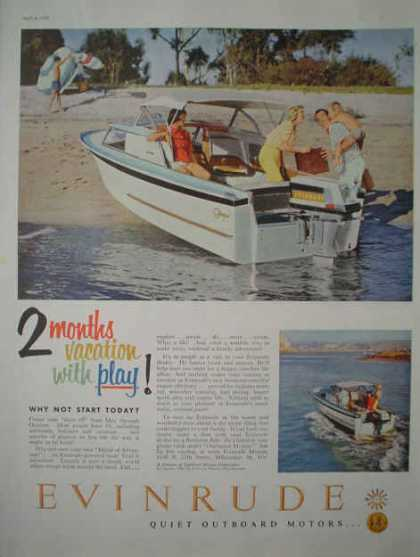 Evinrude Outboard Boat Motors 2 months vacation play (1959)