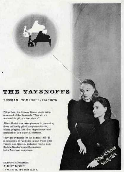 The Yaysnoffs Photo Russian Composer-pianis (1945)