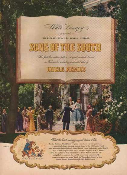 Walt Disney Song of the South Uncle Remus (1946)